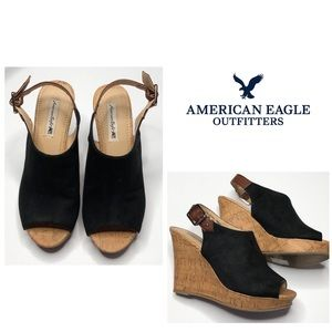 American Eagle Black Wedges - Size 6 1/2